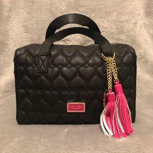 Black Betsy Johnson faux leather handbag